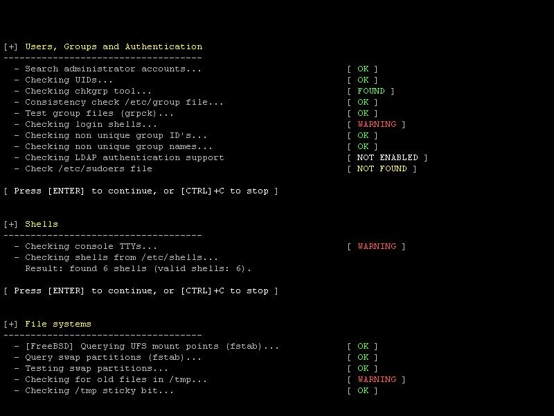 Linux 系统审计工具,Lynis 2.1.1 发布 - 第1张  | 大话运维