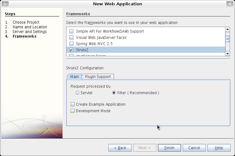 NetBeans的Struts2插件