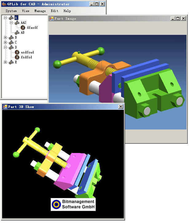 通用CAD零件库系统