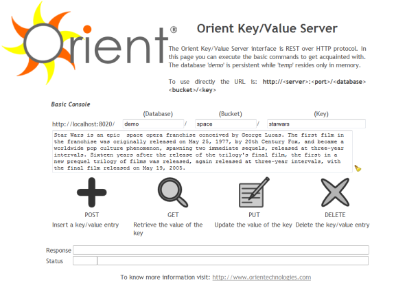 Orient Key/Value Server