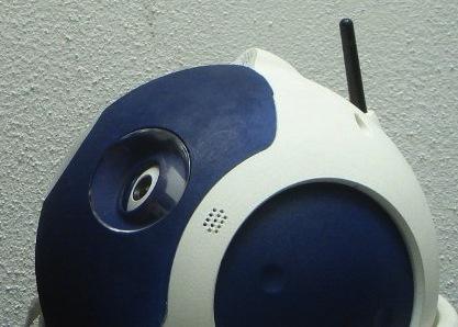 图为:机器人的头部