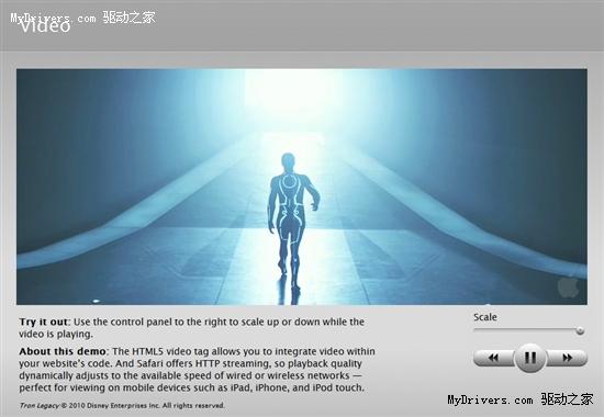 苹果官网Demo展示HTML5网页特效