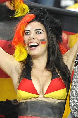 German 2010 World Cup Babe