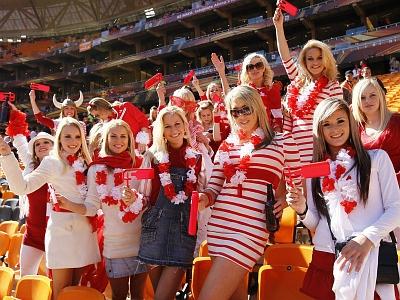 Denmark World Cup 2010 Babes Fans