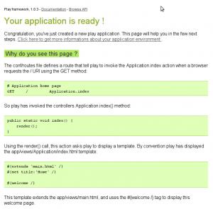 Play Framework sample page