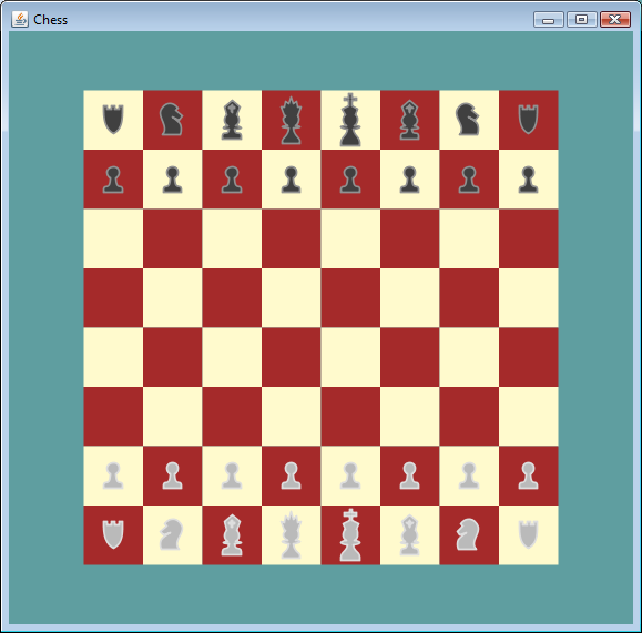Screen shot of Chess JavaFX Program