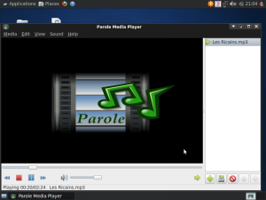 Parole media player screenshot