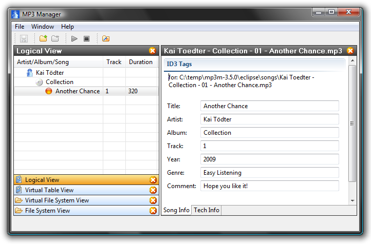 Eclipse RCP MP3 Manager