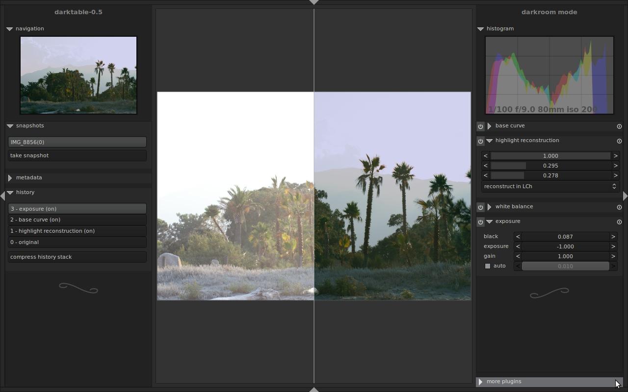 数字摄影暗房软件Darktable 3.0.1
